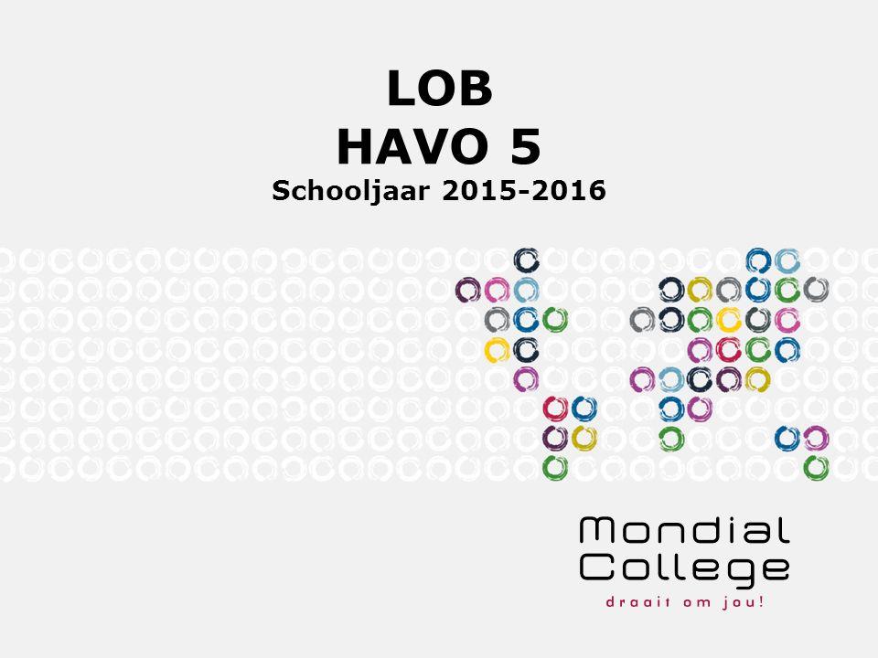 LOB HAVO 5 Schooljaar 2015-2016