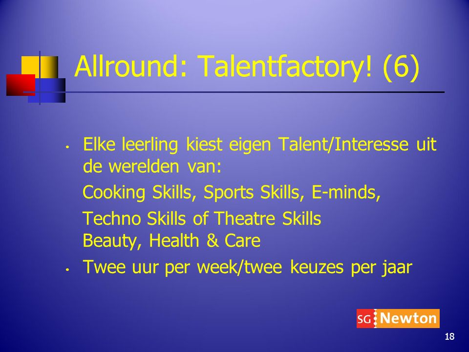 Allround: Talentfactory.