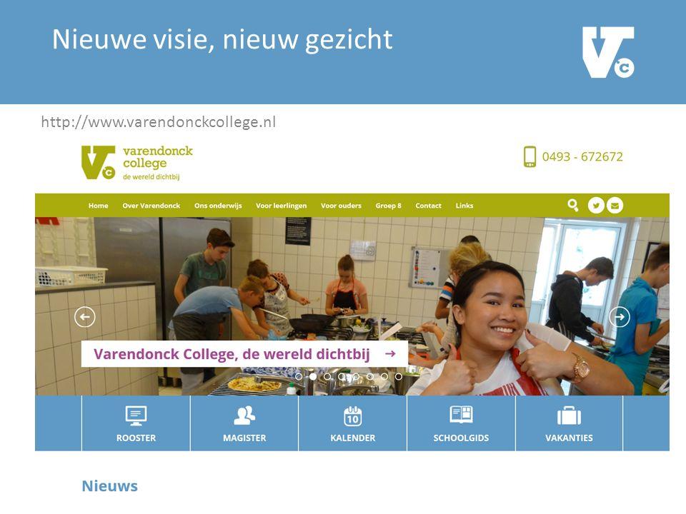 Nieuwe visie, nieuw gezicht Varendonck College.