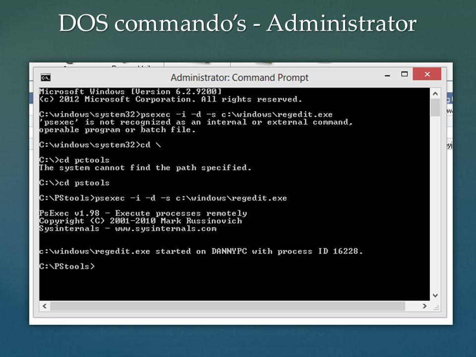 DOS commando's - Administrator
