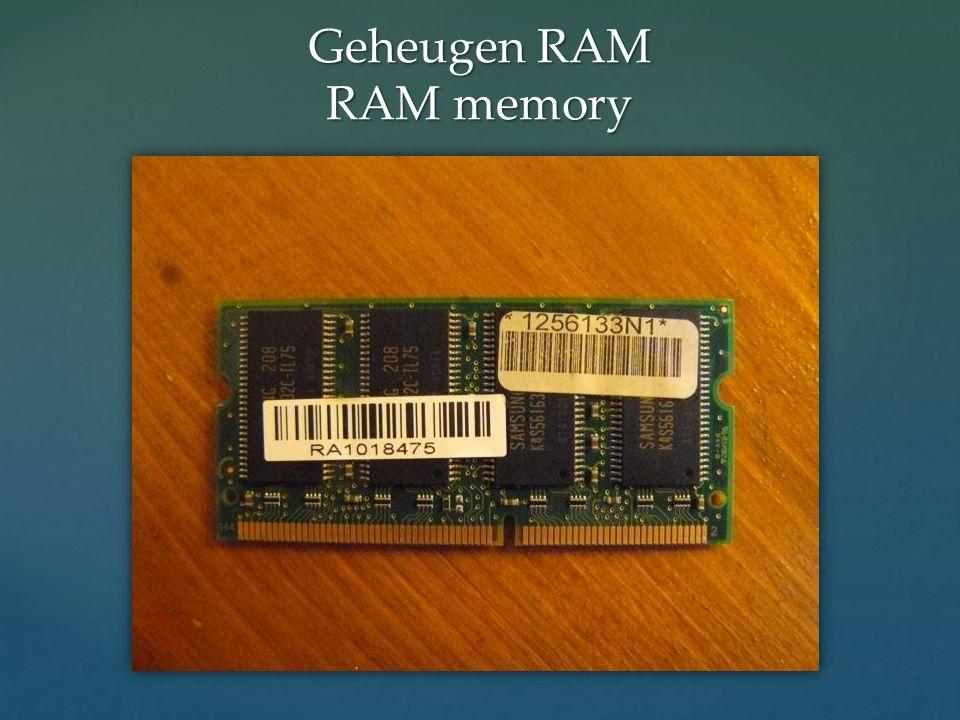 Geheugen RAM RAM memory
