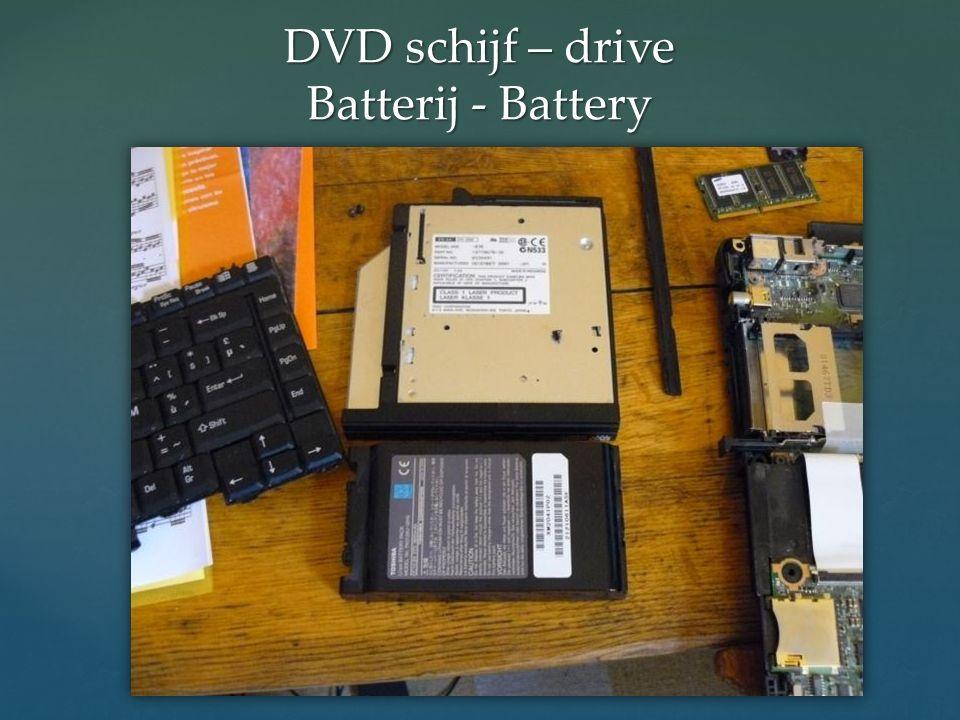 DVD schijf – drive Batterij - Battery