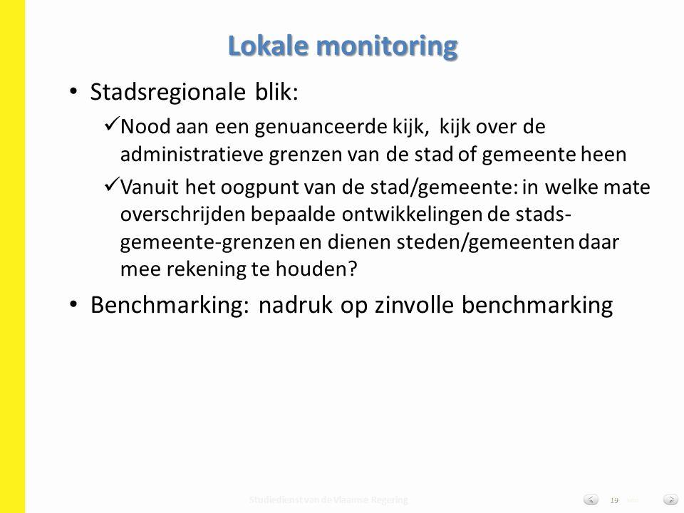 Studiedienst van de Vlaamse Regering van19 Stadsregionale blik: Nood aan een genuanceerde kijk, kijk over de administratieve grenzen van de stad of ge