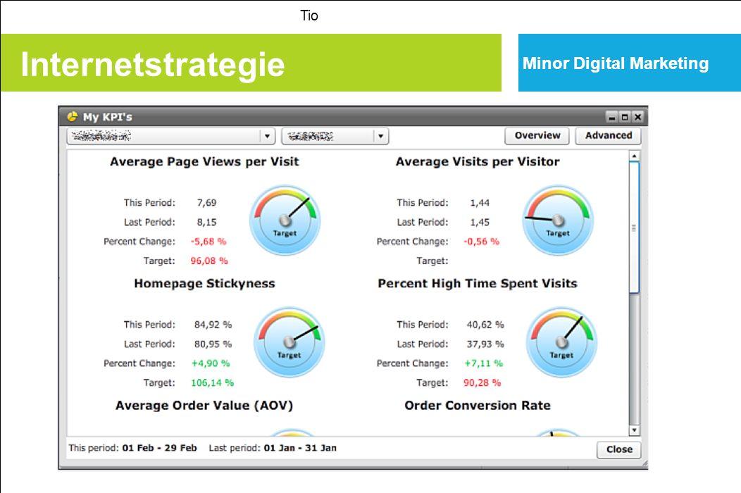 Internetstrategie Minor Digital Marketing Tio