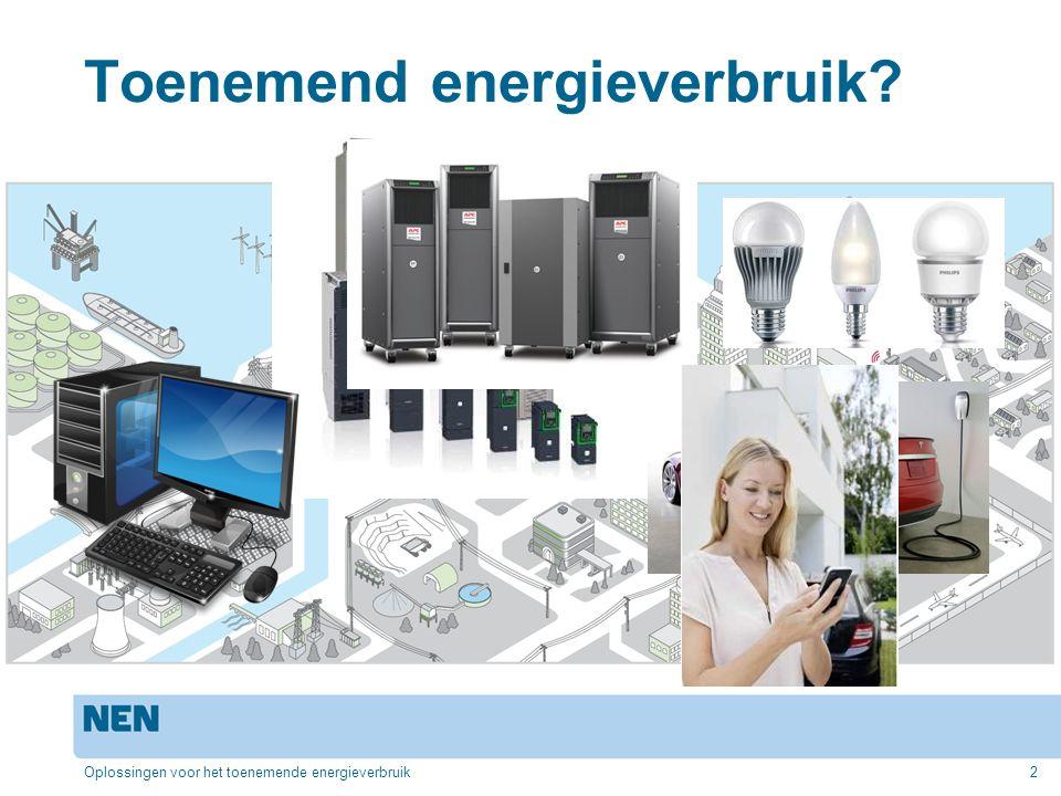 Toenemend energieverbruik Oplossingen voor het toenemende energieverbruik2