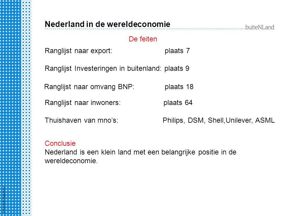 Drie aanwijzingen: koopkracht is hoog dienstenmaatschappij scoort hoog op welzijnsindex handelsbalans en de betalingsbalans zijn positief Nederland is rijk