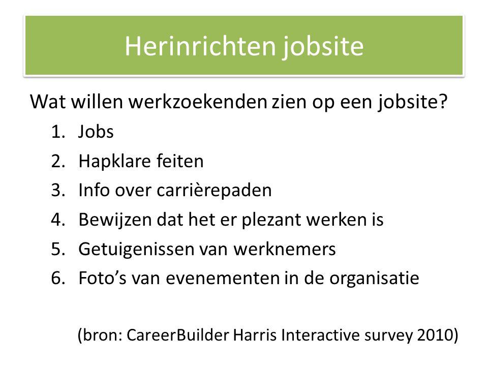 Herinrichten jobsite Wat willen werkzoekenden zien op een jobsite.
