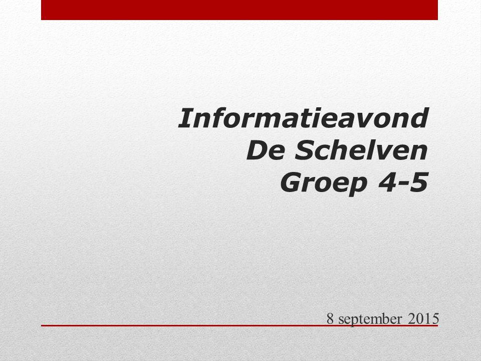 Informatieavond De Schelven Groep 4-5 8 september 2015