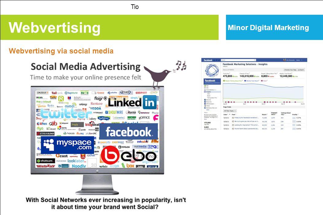 Webvertising Tio Minor Digital Marketing Webvertising via social media