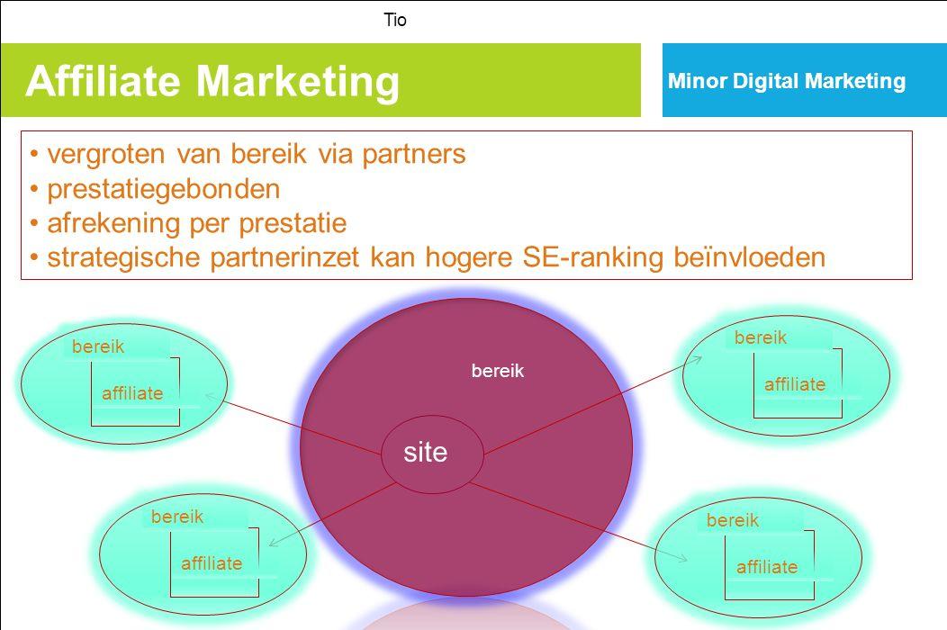 Affiliate Marketing vergroten van bereik via partners prestatiegebonden afrekening per prestatie strategische partnerinzet kan hogere SE-ranking beïnvloeden site bereik Tio Minor Digital Marketing