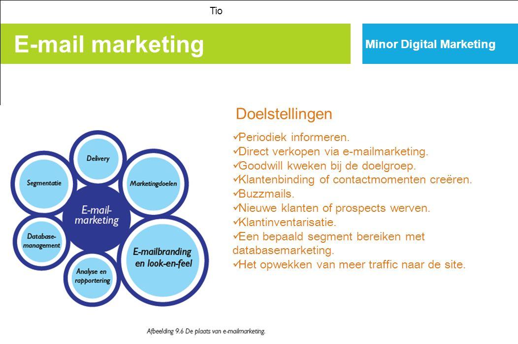 E-mail marketing Tio Minor Digital Marketing Periodiek informeren.
