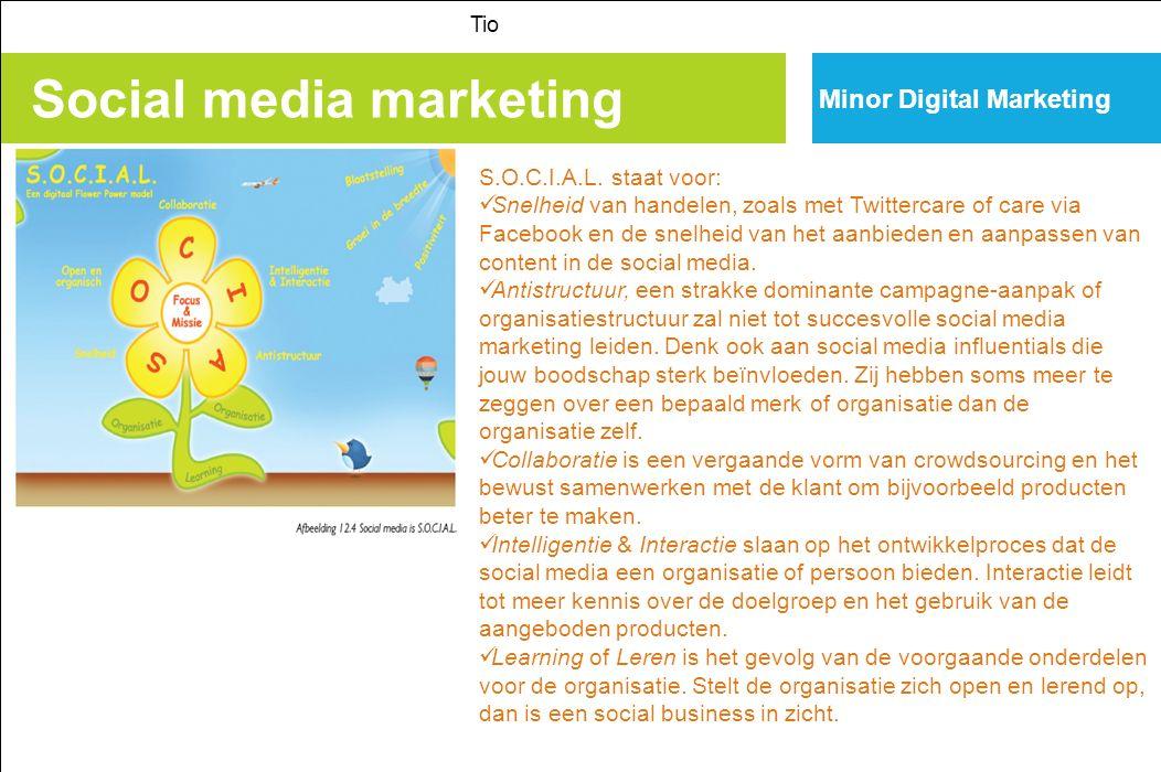 Social media marketing Tio Minor Digital Marketing S.O.C.I.A.L.