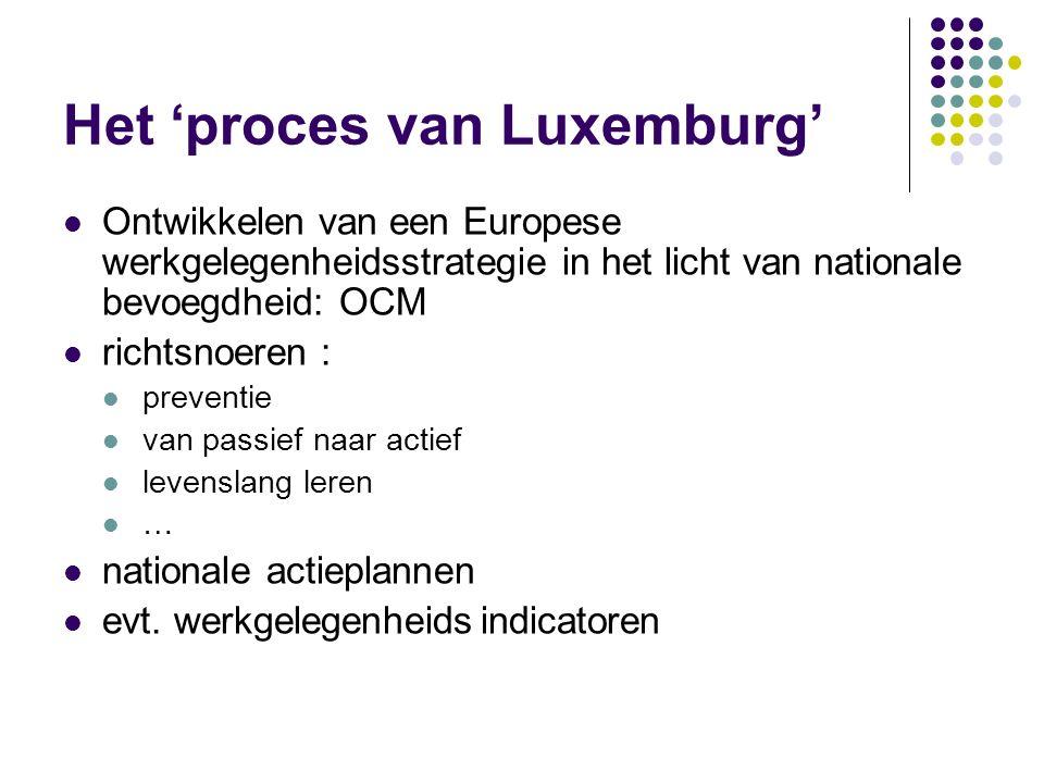 Het 'proces van Luxemburg' Ontwikkelen van een Europese werkgelegenheidsstrategie in het licht van nationale bevoegdheid: OCM richtsnoeren : preventie
