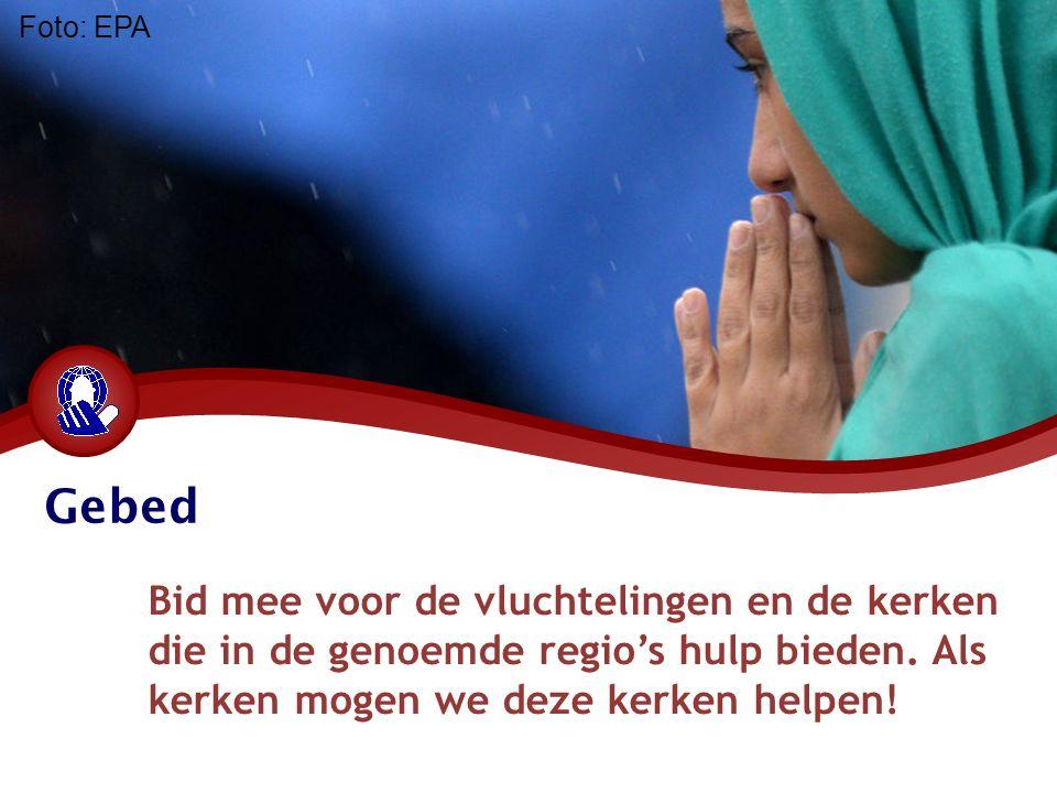 Gebed Bid mee voor de vluchtelingen en de kerken die in de genoemde regio's hulp bieden.