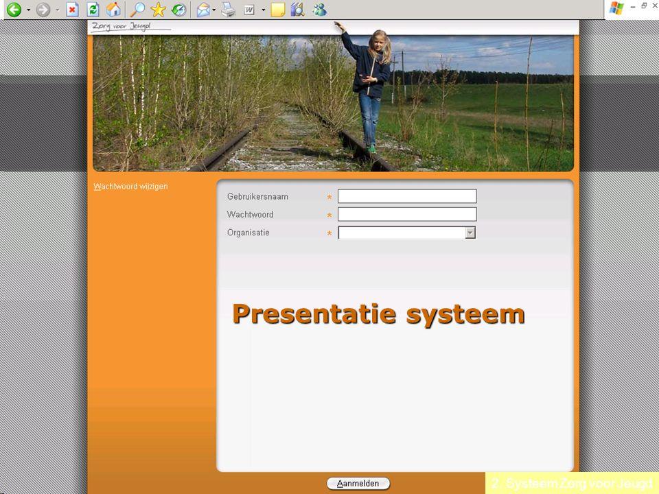 2. Systeem Zorg voor Jeugd Presentatie systeem