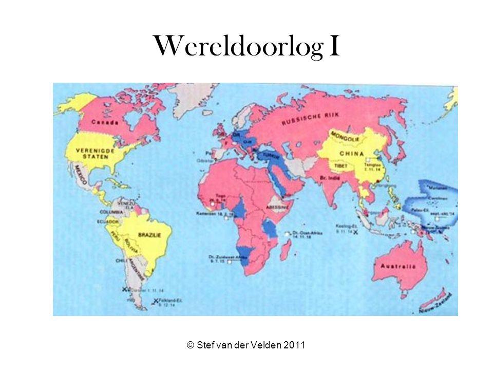 © Stef van der Velden 2011 Wereldoorlog I