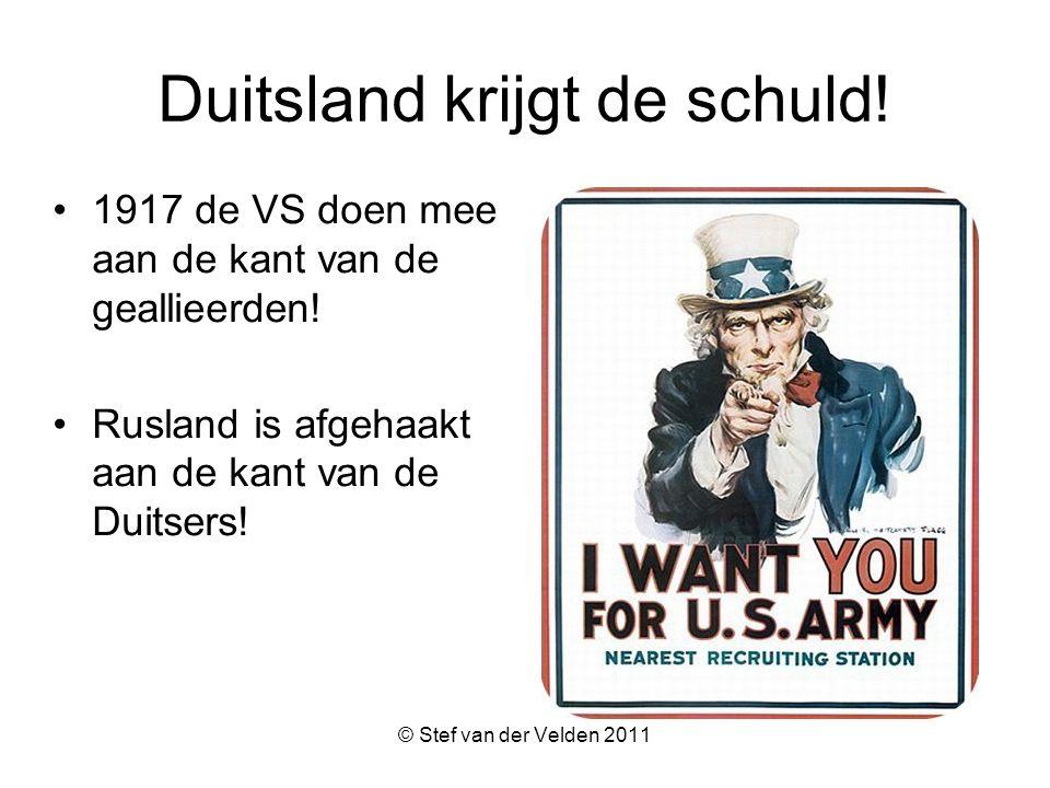 © Stef van der Velden 2011 Duitsland krijgt de schuld.