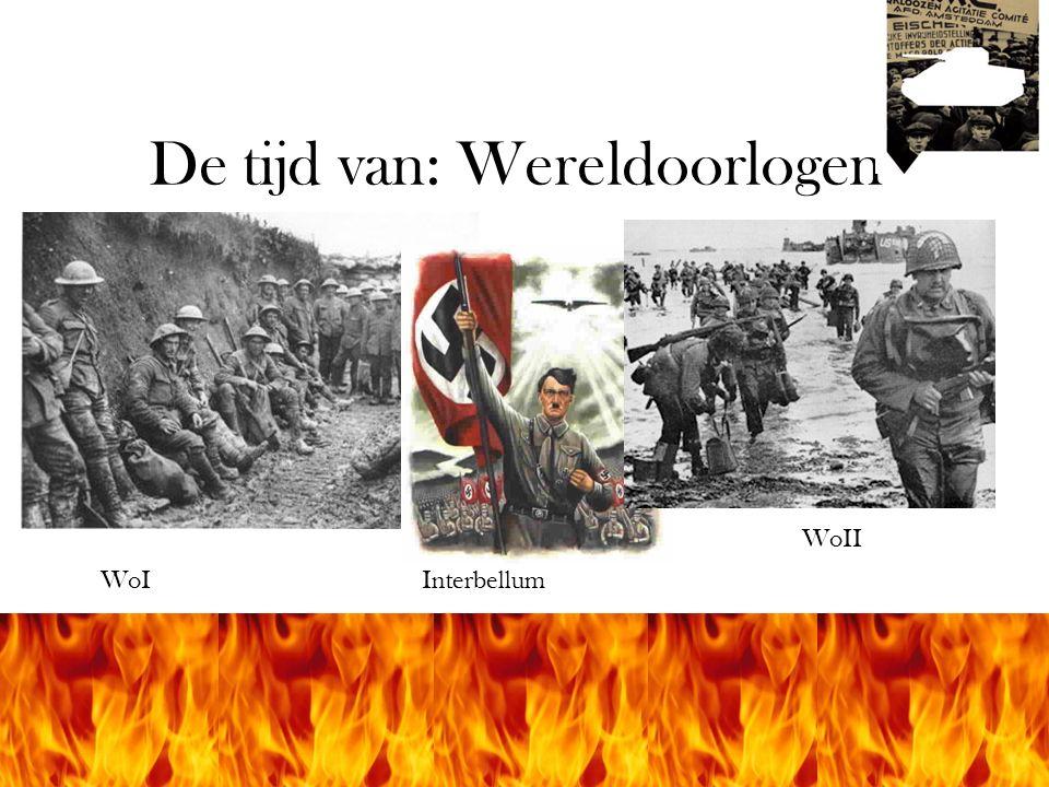 © Stef van der Velden 2011 De tijd van: Wereldoorlogen WoIInterbellum WoII