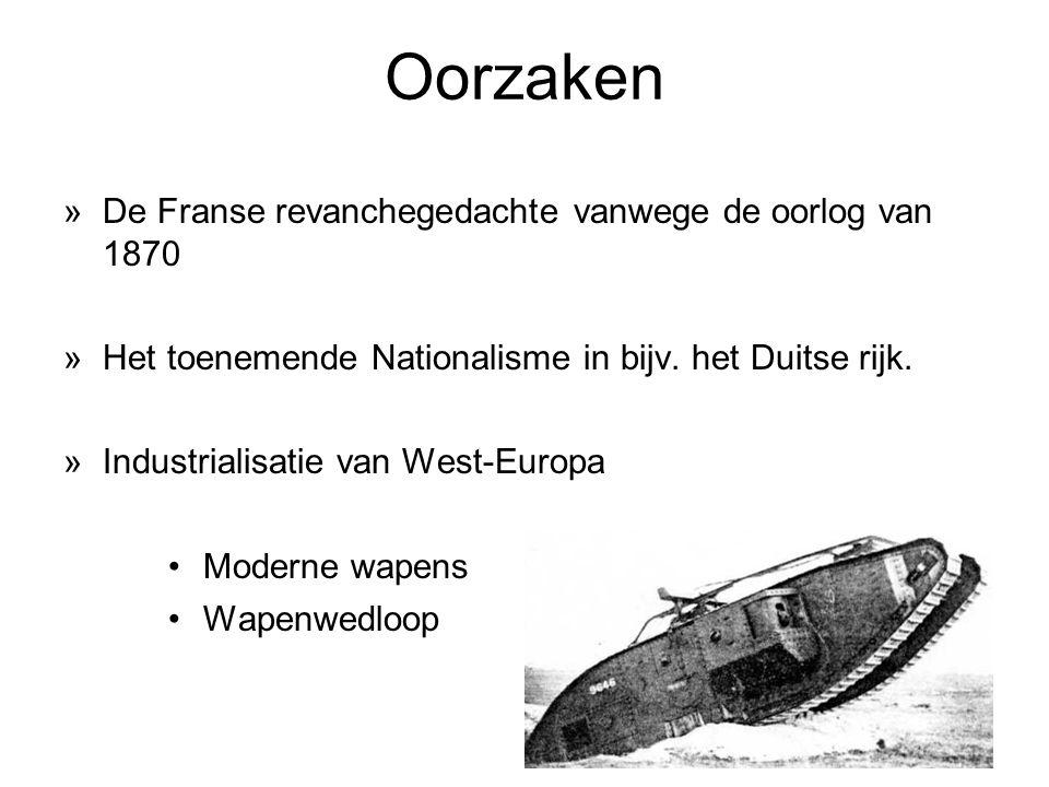 Oorzaken »De Franse revanchegedachte vanwege de oorlog van 1870 »Het toenemende Nationalisme in bijv.
