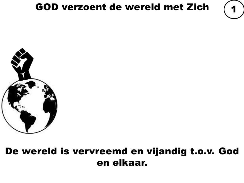 GOD verzoent de wereld met Zich De wereld is vervreemd en vijandig t.o.v. God en elkaar. 1