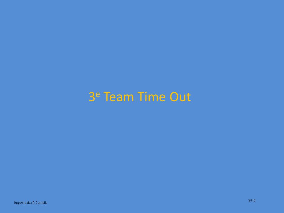 2015 3 e Team Time Out Opgemaakt: R.Cornelis