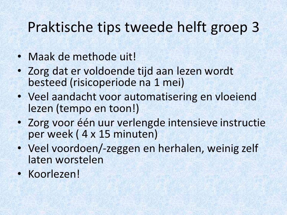 Praktische tips tweede helft groep 3 Maak de methode uit.
