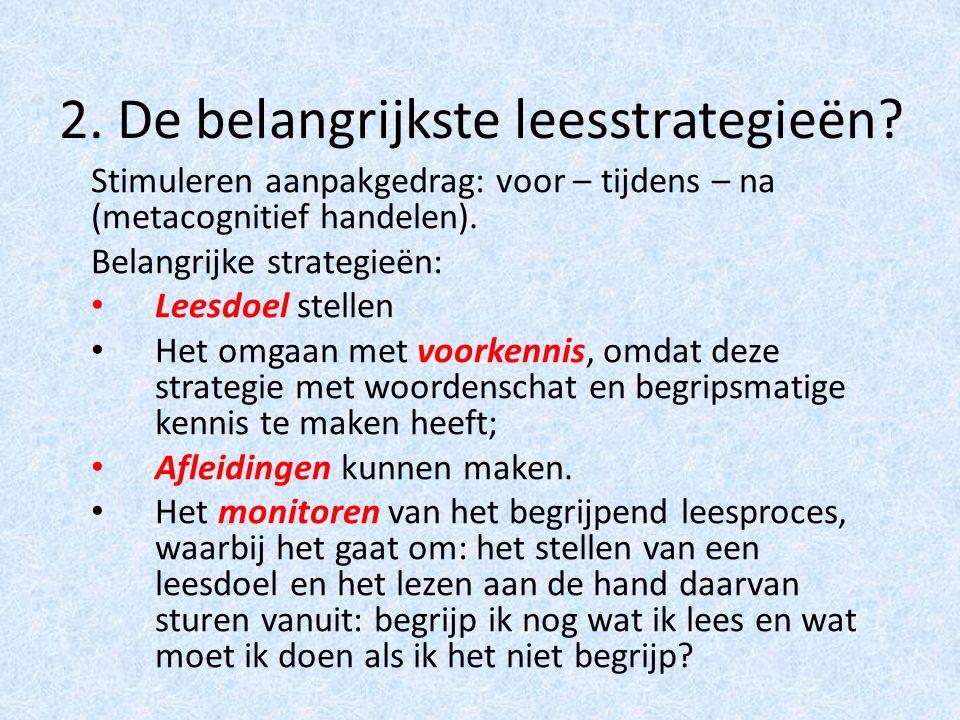 2.De belangrijkste leesstrategieën.