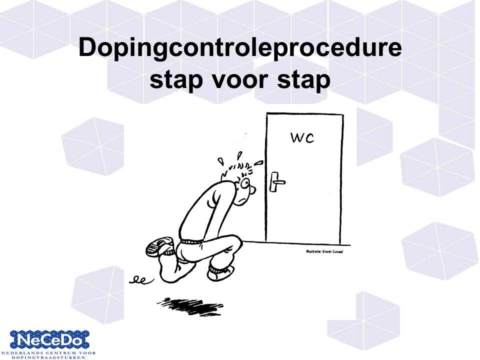 Dopingcontroleprocedure stap voor stap