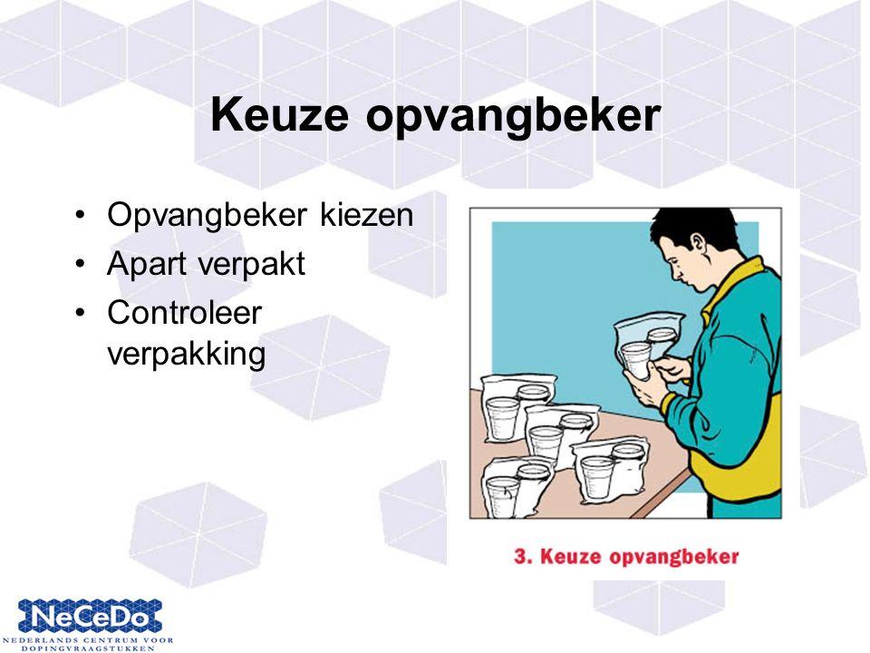 Keuze opvangbeker Opvangbeker kiezen Apart verpakt Controleer verpakking