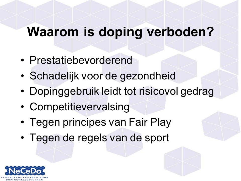 Waarom is doping verboden.