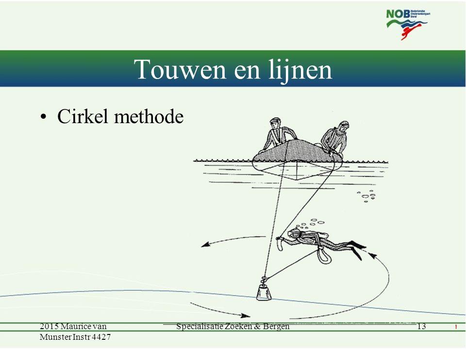 Touwen en lijnen Cirkel methode 2015 Maurice van Munster Instr 4427 13Specialisatie Zoeken & Bergen