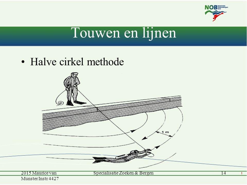 Touwen en lijnen Halve cirkel methode 2015 Maurice van Munster Instr 4427 14Specialisatie Zoeken & Bergen