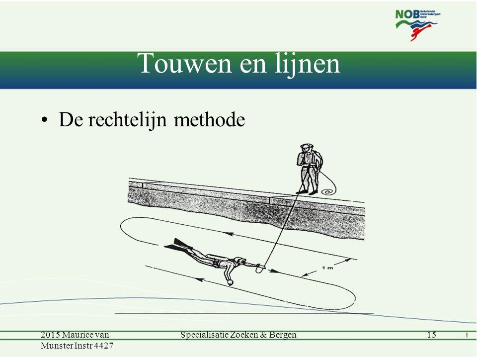 Touwen en lijnen De rechtelijn methode 2015 Maurice van Munster Instr 4427 15Specialisatie Zoeken & Bergen