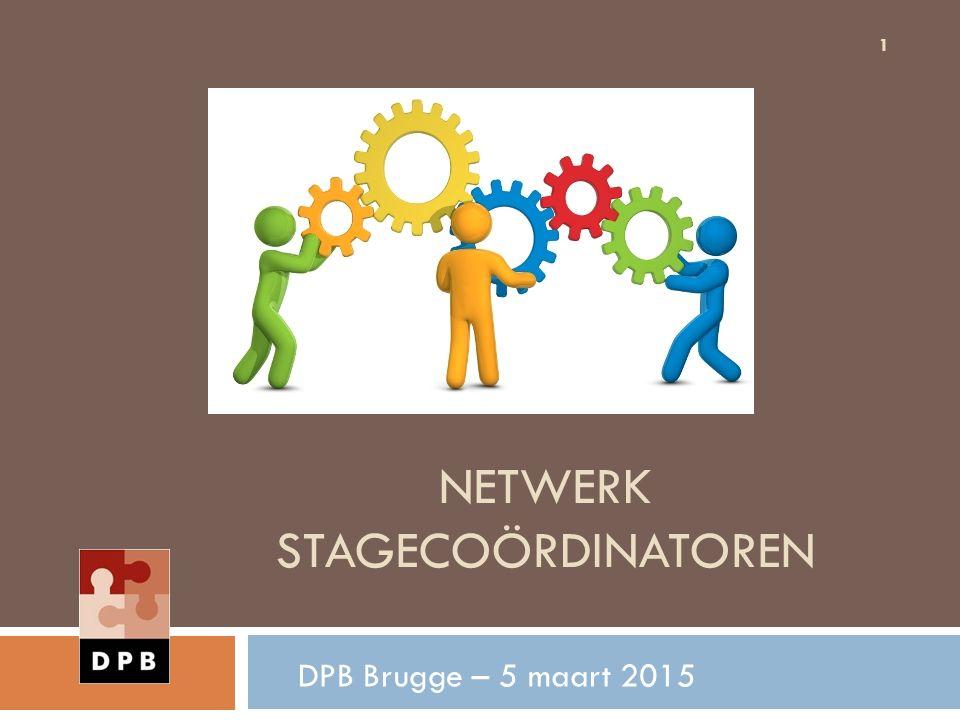 NETWERK STAGECOÖRDINATOREN DPB Brugge – 5 maart 2015 1