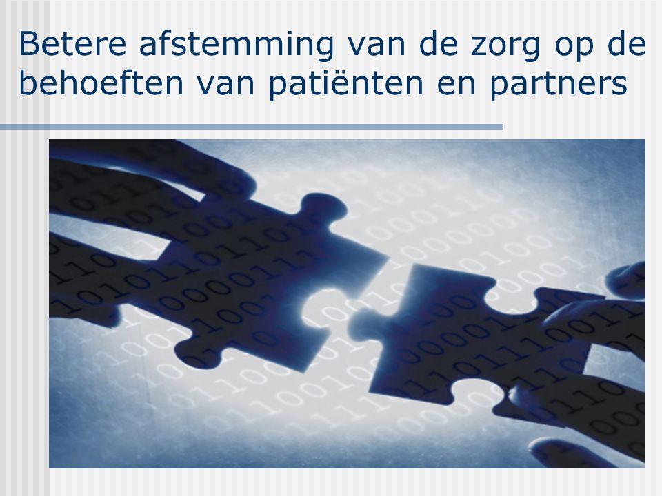 Betere afstemming van de zorg op de behoeften van patiënten en partners