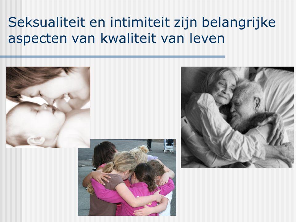 Seksualiteit en intimiteit zijn belangrijke aspecten van kwaliteit van leven