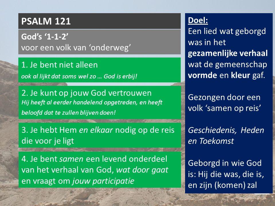 God's '1-1-2' voor een volk van 'onderweg' PSALM 121 1.