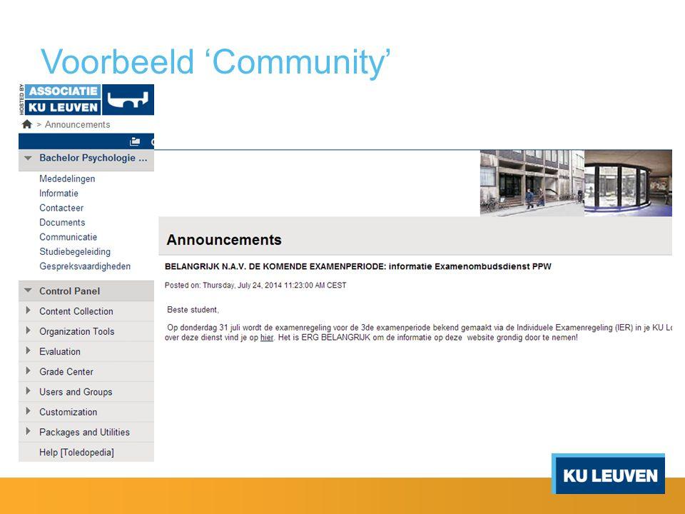 Voorbeeld 'Community'