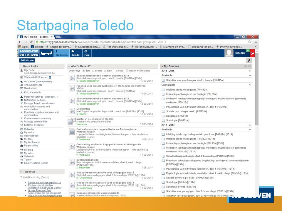 Startpagina Toledo