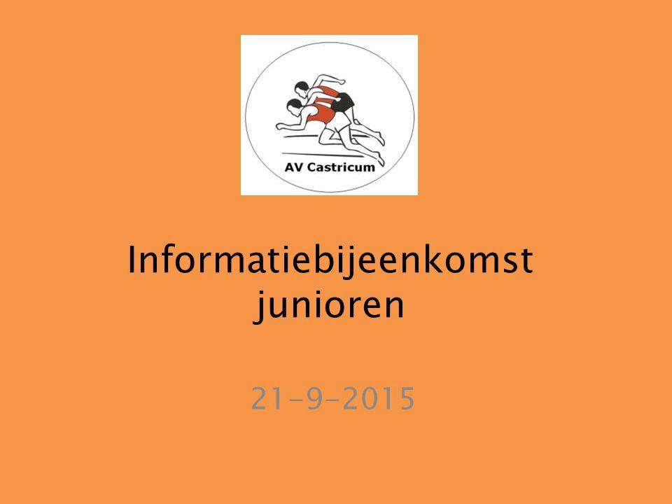 Informatiebijeenkomst junioren 21-9-2015