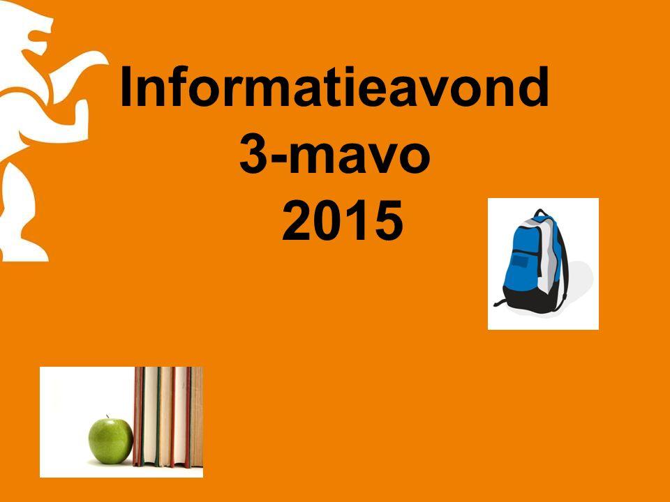 Informatieavond 3-mavo 2015