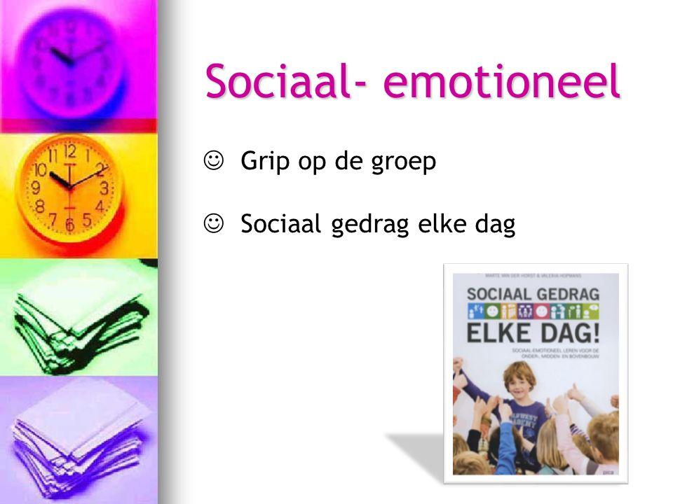 Sociaal- emotioneel Grip op de groep Sociaal gedrag elke dag