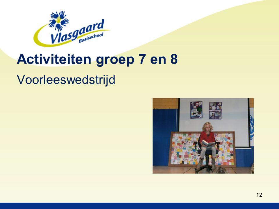 Activiteiten groep 7 en 8 Voorleeswedstrijd 12