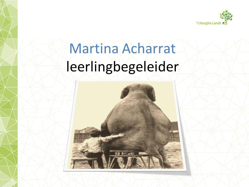 Martina Acharrat leerlingbegeleider