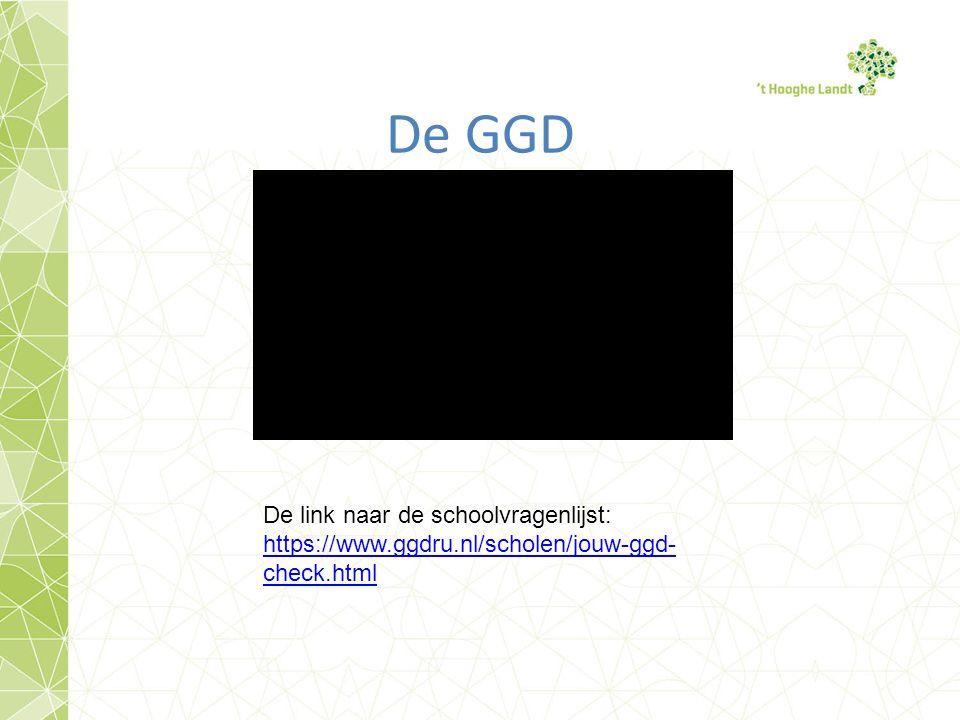 De GGD De link naar de schoolvragenlijst: https://www.ggdru.nl/scholen/jouw-ggd- check.html