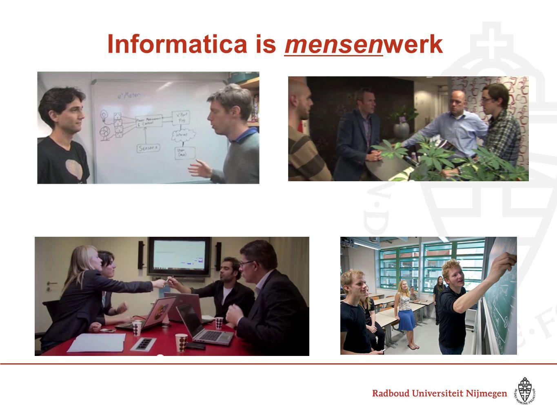 Informatica is mensenwerk
