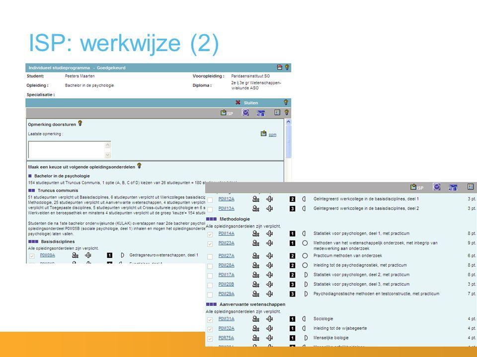 ISP: werkwijze (2)