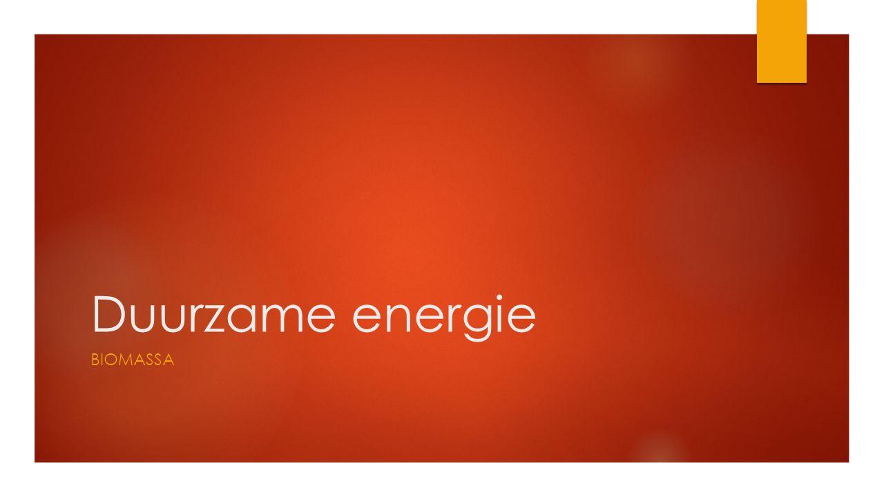 Duurzame energie BIOMASSA