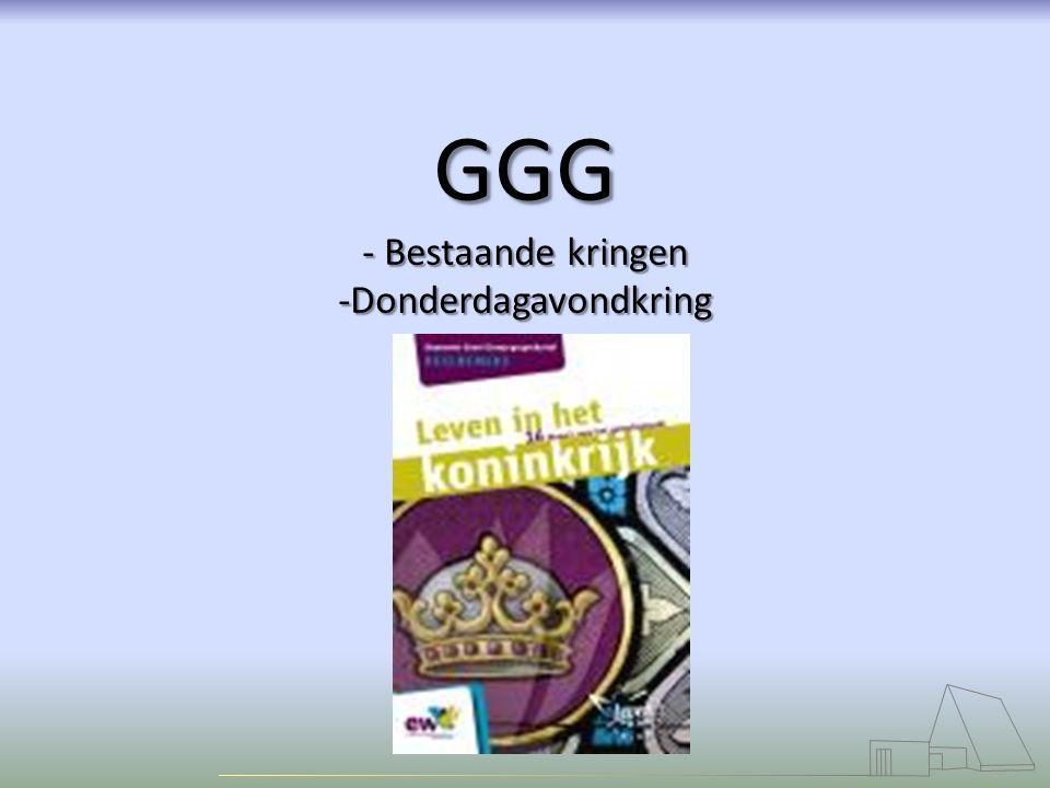 GGG - Bestaande kringen -Donderdagavondkring