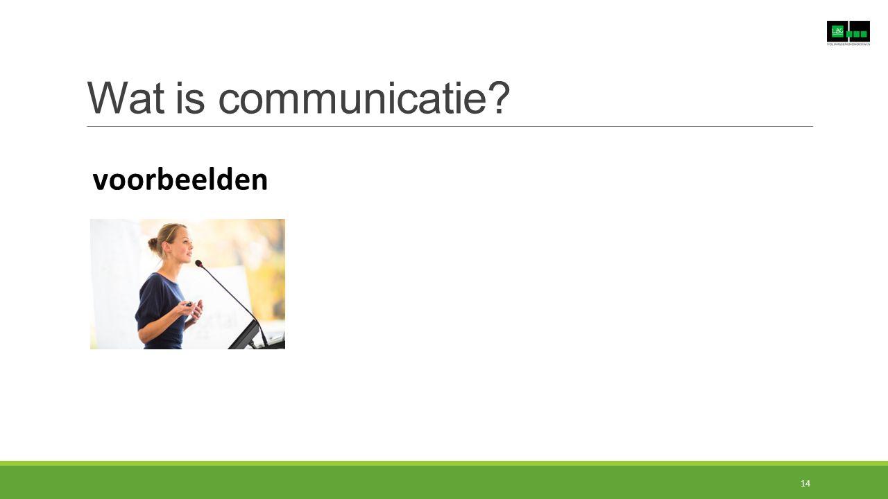 Wat is communicatie? voorbeelden 14